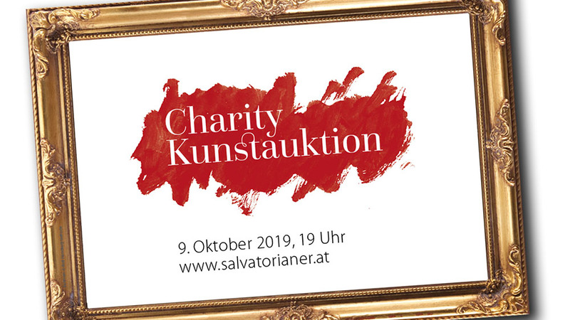 Logo zur 5. Charity Kunstauktion der Salvatorianer am 9. Oktober 2019